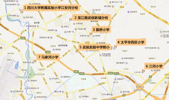 武侯区西南部小学分布地图-爆炒 学区房 之后 该如何收场